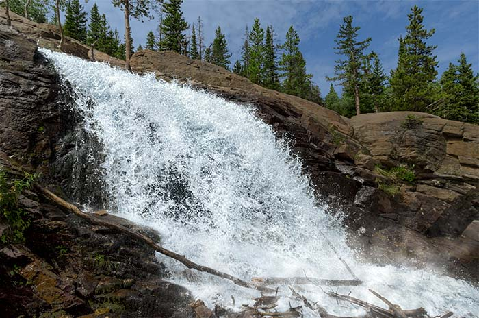 Alberta Falls in Glacier Gorge, Rocky Mountain National Park, Colorado - photo by Jerry Blank
