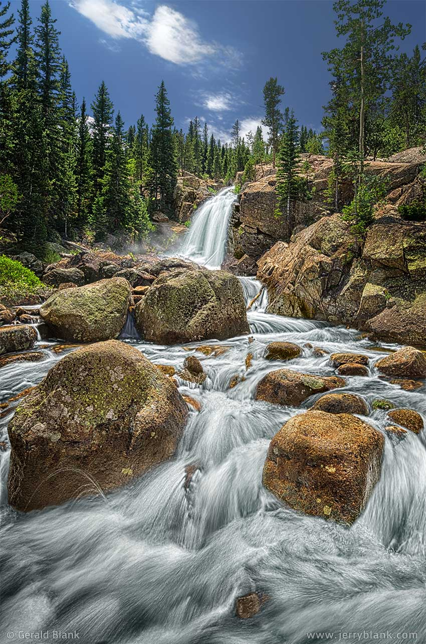 #22607 - Alberta Falls in Glacier Gorge, Rocky Mountain National Park, Colorado - photo by Jerry Blank